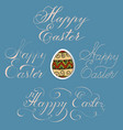 hand drawn lettering happy easter in vector image