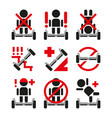 gyroscooter icons collection vector image vector image