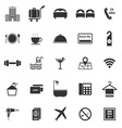 Hotel icons on white background vector image
