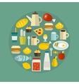 Food circle vector image
