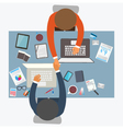 Flat design style of business meeting office work vector image vector image