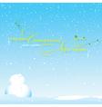 Background snow season on Christmas vector image