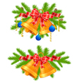 festive decorations vector image vector image