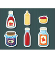 Sticker series of containers vector image vector image