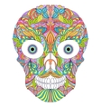 abstract floral skull on white background vector image