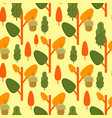 autumn foliage concept seamless pattern vector image