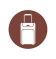 baggage suitcase travel brown circle vector image