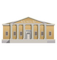 big building with columns in simple cartoon style vector image