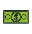 bill dollar money icon vector image