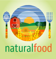 Flat design icon of vegetarian food healthy eating vector image