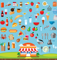 Food icon set flat design vector image