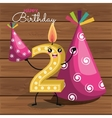 happy birthday candle number character vector image
