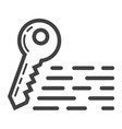keywords line icon seo and development vector image