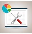 round statistics graphics board vector image