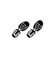 shoes footprints vector image