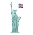 Statue of Liberty in USA National symbol of vector image