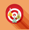 target concept icon flat icon with long shadow vector image