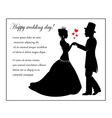 Wedding in retro style vector image