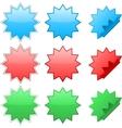 Zig zag stickers vector image