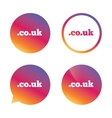 Domain COUK sign icon UK internet subdomain vector image