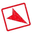 Arrowhead Right-Down Icon Rubber Stamp vector image