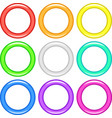 Color rings set vector image vector image