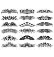 tribal tattoo set collection vector image vector image