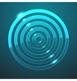 glass target icon vector image