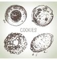 Hand drawn sketch sweet cookies set vector image vector image