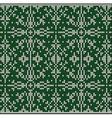 knitting pattern sweater 1d3zGreen vector image