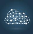 Cloud computing concept - internet communication vector image vector image