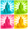 Colorful Skyscrapers vector image