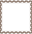 Simple geometric ethnic frame variation 6 vector image