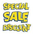 Sale phrases written like as Pokemon logo vector image