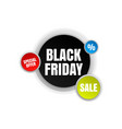 black friday banner banner for advertising vector image
