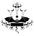 bull skull and bat vector image