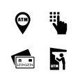 cash machine simple related icons vector image