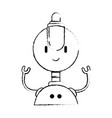 electronic robot character icon vector image