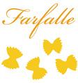 Farfalle pasta vector image