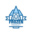 Frozen product abstract label for freezing vector image