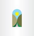 highway landscape icon design element vector image