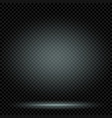 light in dark with shadow empty template vector image