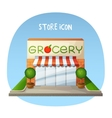 Store icon Grocery shop market building Cartoon vector image