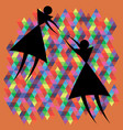 tenderness of triangular figures vector image