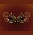 venetian carnival mask with floral pattern vector image