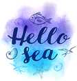 Abstract watercolor marine background vector image