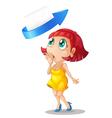 a girl an arrow and envelop vector image