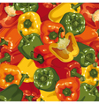 background of multicolored peppers vector image