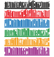 books on bookshelf vector image