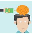 Brain drain The loss of talent vector image